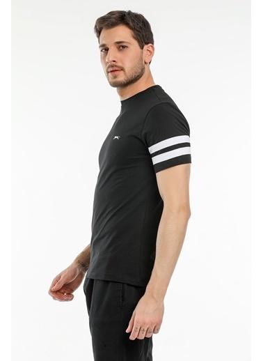 Slazenger Slazenger MANAGE Erkek T-Shirt  Siyah